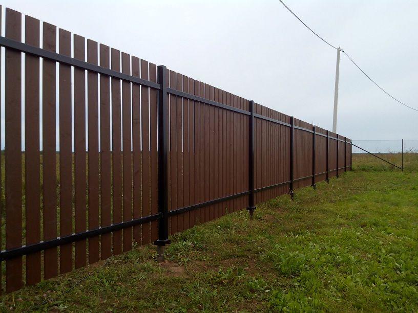 Забор из досок собственными силами